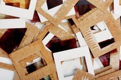 Комплект старых скольжений, фото и фильма на таблице Стоковое Фото