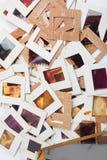 Комплект старых скольжений, фото и фильма на таблице Стоковые Изображения RF