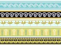 Комплект старых minoan дизайнов 2 patten Стоковое Изображение