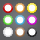 Комплект стекла икон App. Лоснистые иконы кнопки. Стоковое Изображение RF
