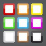 Комплект стекла икон App. Лоснистые иконы кнопки. Стоковая Фотография RF