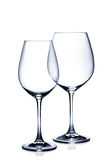 Комплект стекла коктеиля. Пустые красные и белые бокалы на белизне иллюстрация штока