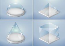 Комплект стеклянных форм Стоковое Фото