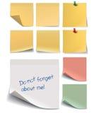 Комплект стикеров для примечаний Стоковые Изображения RF