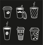 Комплект стильных кофейных чашек Стоковое Фото