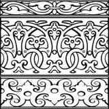1 комплект стиля декоративных границ винтажного Стоковые Изображения RF