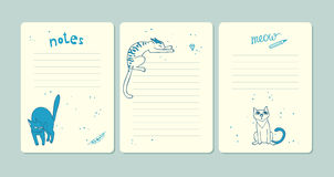 Комплект страниц для примечаний Стоковое Изображение