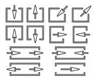 Комплект стрелок силуэтов Стоковое фото RF