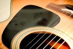 Комплект строк гитары от акустической гитары Стоковое фото RF