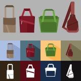 Комплект сумки людей стоковые изображения rf