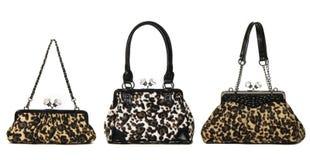 Комплект сумок женщин леопарда Стоковые Фотографии RF