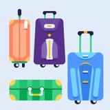 Комплект сумок с колесами Стоковые Изображения RF