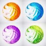 Комплект сферы конспекта цвета вектора Стоковые Фотографии RF