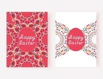 Комплект счастливых карточек пасхи также вектор иллюстрации притяжки corel Стоковое Фото