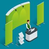 Комплект счетчика продвижения Торговая стойка Пустой плакат вектора иллюстрация штока