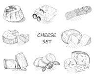 Комплект сыра Стоковые Фото