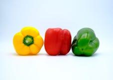 Комплект сладостного желтого, красного и зеленого перца Стоковое Изображение RF