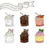 Комплект сладостных десертов Стоковые Фотографии RF