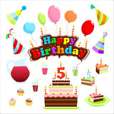 Комплект с днем рождения Стоковое Изображение RF