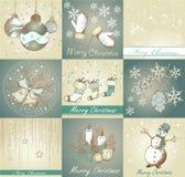 Комплект с Рождеством Христовым предпосылок Стоковое Изображение RF