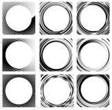 Комплект случайных элементов круга Концентрические круги, концентрическое ri Стоковое Изображение