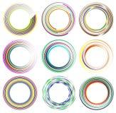 Комплект случайных элементов круга Концентрические круги, концентрическое ri Стоковые Фото