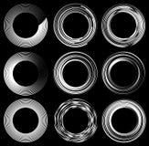 Комплект случайных элементов круга Концентрические круги, концентрическое ri Стоковые Изображения RF