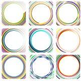 Комплект случайных элементов круга Концентрические круги, концентрическое ri Стоковые Изображения