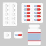 Комплект таблеток иллюстрация штока