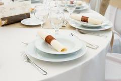 Комплект таблицы ресторана Стоковая Фотография RF