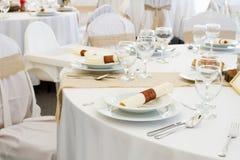 Комплект таблицы ресторана Стоковое Изображение