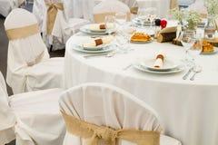 Комплект таблицы ресторана Стоковые Фото