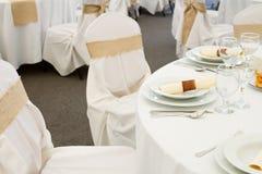 Комплект таблицы ресторана Стоковое Фото