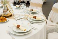 Комплект таблицы ресторана Стоковое фото RF