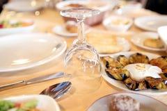 Комплект таблицы ресторанного обслуживании Стоковая Фотография