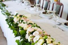 Комплект таблицы свадьбы Стоковое Изображение