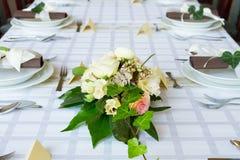 Комплект таблицы свадьбы Стоковые Фотографии RF