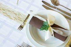 Комплект таблицы свадьбы Стоковые Изображения RF