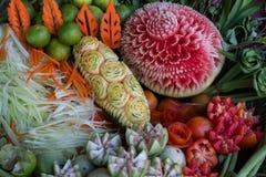 Комплект тайского овоща стоковое изображение rf