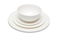 Комплект тарелок Стоковые Фото