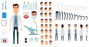 Комплект творения характера дантиста Стоковые Изображения RF