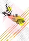 Комплект творческих карточек и плакатов с геометрическими формами и кристаллами плана Ультрамодные логотипы битника Полигональные Стоковая Фотография RF
