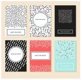 Комплект творческой всеобщей карточек нарисованных рукой Стоковые Фотографии RF