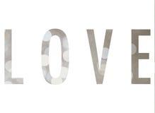 Комплект текста влюбленности дизайна предпосылки Bokeh Стоковые Изображения
