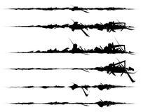 Комплект текстурированных, грубых и grungy элементов изолированных на белизне El бесплатная иллюстрация