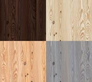 Комплект текстуры вектора деревянной с естественной картиной бесплатная иллюстрация