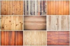 Комплект текстуры древесины картины Стоковые Изображения RF