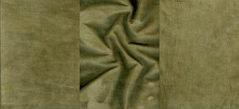 Комплект текстур кожи замши болота Стоковое Изображение RF