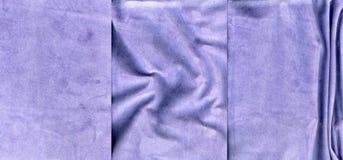Комплект текстур кожи замши сирени Стоковые Изображения