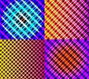 Комплект темных абстрактных линий предпосылки спектра иллюстрация вектора